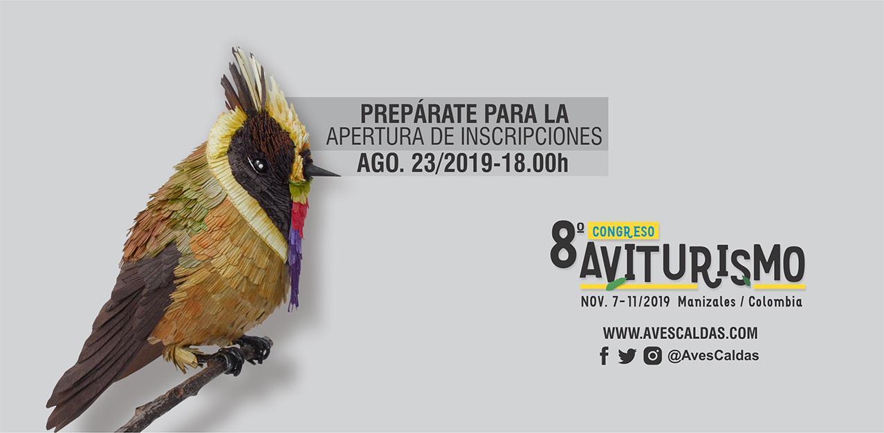 Prepárate para la apertura de las inscripciones al 8° #CongresoAviturismo